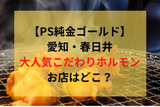 【PS純金】-春日井のホルモンのお店はどこ?